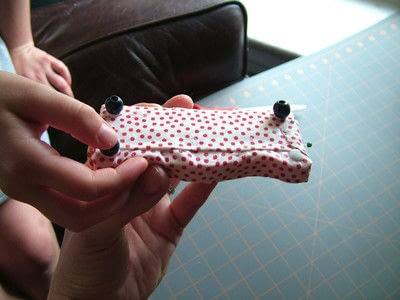How to make a piece of doll furniture. Simple Dollhouse Sofas - Step 7