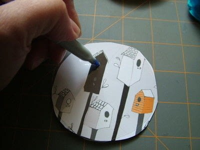 How to make a board game piece. Birdhouse Pocket Game - Step 2