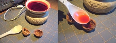 How to make a shell ornament. Walnut Shell Mayflower Boats - Step 4