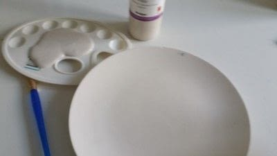 How to make a plate. Creating Stripes And Using A Silk Screen On Pottery - Step 2