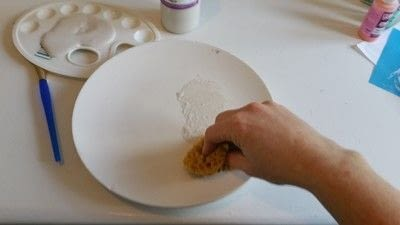 How to make a plate. Creating Stripes And Using A Silk Screen On Pottery - Step 3