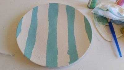 How to make a plate. Creating Stripes And Using A Silk Screen On Pottery - Step 9