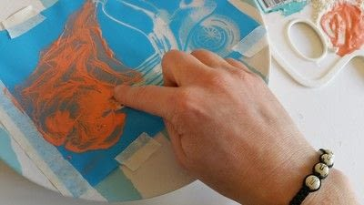 How to make a plate. Creating Stripes And Using A Silk Screen On Pottery - Step 12