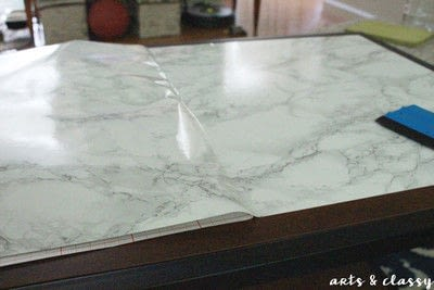 How to make a coffee table. Diy Faux Marble Coffee Table Makeover Tutorial - Step 3