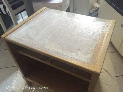 How to make a side table. Mid Century Modern Side Table Makeover  - Step 4