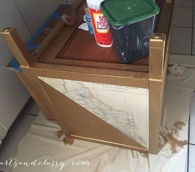 How to make a side table. Mid Century Modern Side Table Makeover  - Step 5
