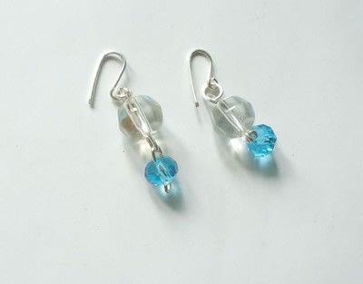How to bead a set of beaded tassel earrings. Crystal Beaded Dangle Ear Hooks - Step 5