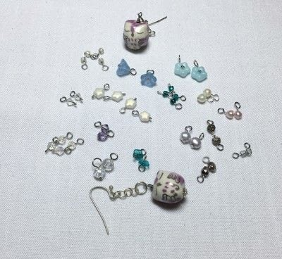 How to make a dangle earring. Owl Cluster Earrings - Step 2