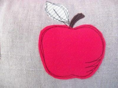 How to sew an applique cushion. Appley Dappley Cushion Cover - Step 1