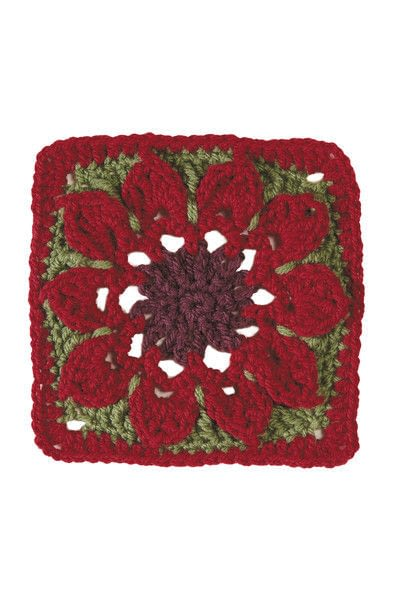 How to crochet a granny square blanket. Tapestry Blanket - Step 4