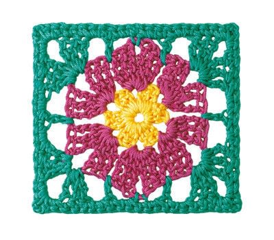 How to crochet a granny square blanket. Carnival Blanket - Step 5