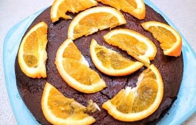 How to bake an orange cake. Tunisian Chocolate Orange Cake - Step 8