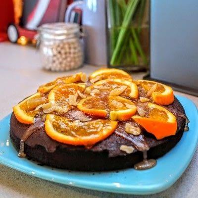How to bake an orange cake. Tunisian Chocolate Orange Cake - Step 11