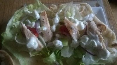 How to cook a wrap. Chicken Soulvaci - Step 4