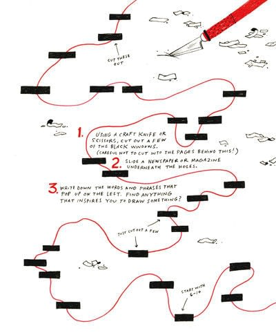 How to create art / a model. Found Poetry View Finder - Step 1