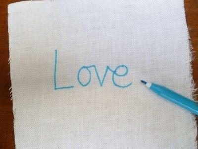 How to stitch . Chain Stitch Embroidery - Step 2