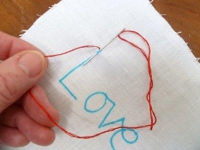 How to stitch . Chain Stitch Embroidery - Step 4