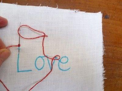 How to stitch . Chain Stitch Embroidery - Step 6