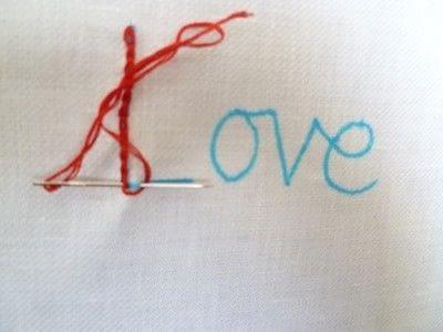 How to stitch . Chain Stitch Embroidery - Step 8