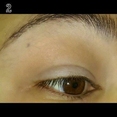 How to create a glitter eye. Mint Chocolate Chip Eye Makeup - Step 2