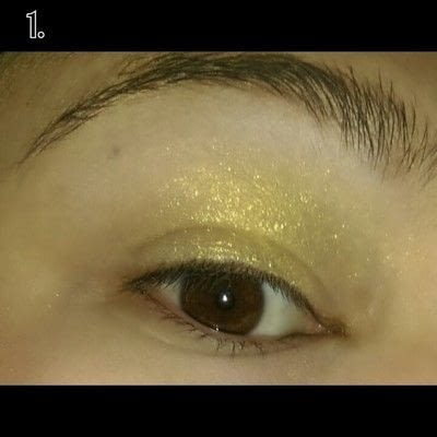 How to create a sunburst eye. Sunset Eye Makeup Look - Step 1