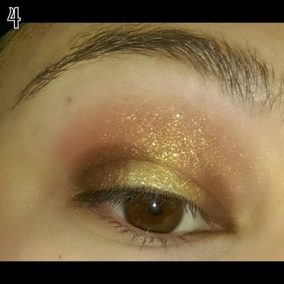 How to create a sunburst eye. Sunset Eye Makeup Look - Step 4