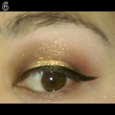 How to create a sunburst eye. Sunset Eye Makeup Look - Step 6