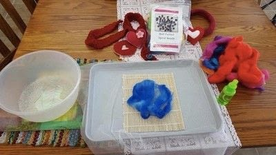 How to make a scarf. Felted Jelly Roll Scarf - Step 1