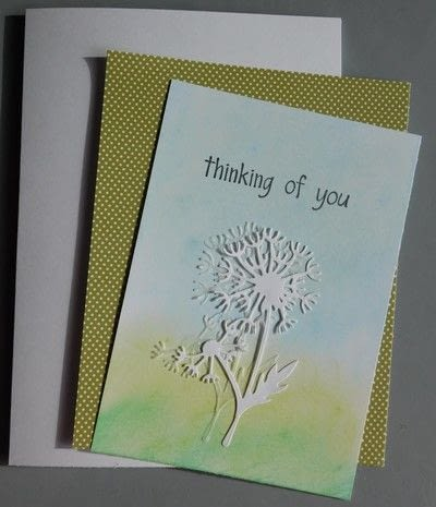 How to make a greetings card. Creating A Card From The Creating Shadows From Paper Technique - Step 4