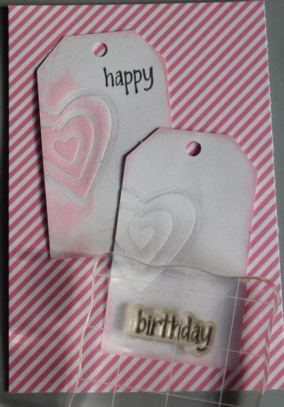 How to make a gift tag. Create A Project Using The Embossing With A Die Technique - Step 3