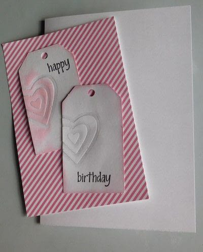 How to make a gift tag. Create A Project Using The Embossing With A Die Technique - Step 4