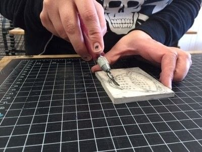 How to make a stamper. Carve Your Own Stamp! (And Stamp It Too!) - Step 7