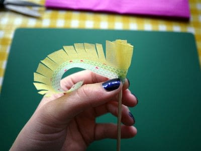 How to make a paper flower. Tissue Paper Flowers - Step 7