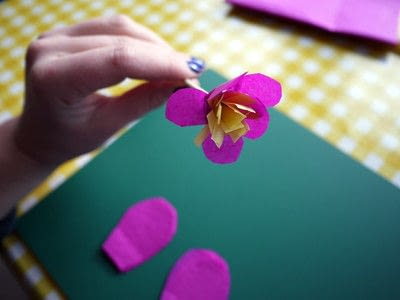 How to make a paper flower. Tissue Paper Flowers - Step 13