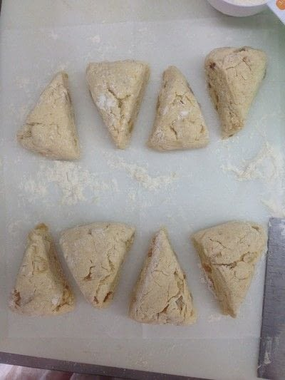 How to bake a biscuit / scone. Vanilla Ginger Scones - Step 7