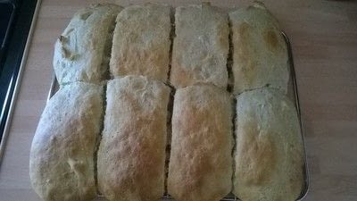 How to bake a roll or bun. Sub Rolls  - Step 7