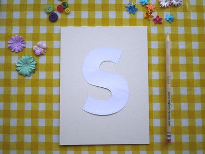 How to make wall decor. Floral Monogram Wall Art - Step 2