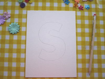 How to make wall decor. Floral Monogram Wall Art - Step 3