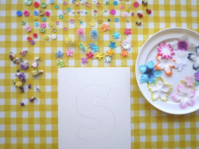 How to make wall decor. Floral Monogram Wall Art - Step 4
