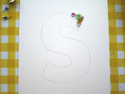 How to make wall decor. Floral Monogram Wall Art - Step 5