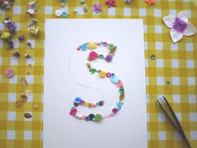 How to make wall decor. Floral Monogram Wall Art - Step 6