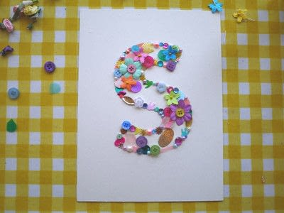 How to make wall decor. Floral Monogram Wall Art - Step 7