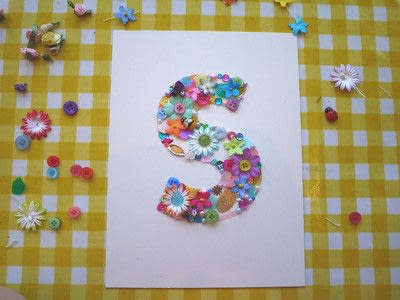 How to make wall decor. Floral Monogram Wall Art - Step 8
