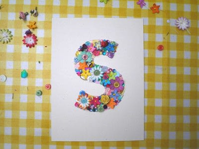How to make wall decor. Floral Monogram Wall Art - Step 9