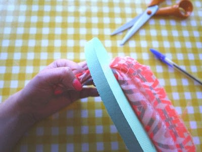 How to make a sandal / flip flop. Repurposed Scarf Flip Flops - Step 5