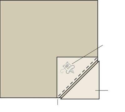 How to make a furoshiki / wrap. Holiday Mouse Furoshiki Cloth - Step 2