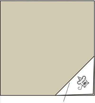 How to make a furoshiki / wrap. Holiday Mouse Furoshiki Cloth - Step 3