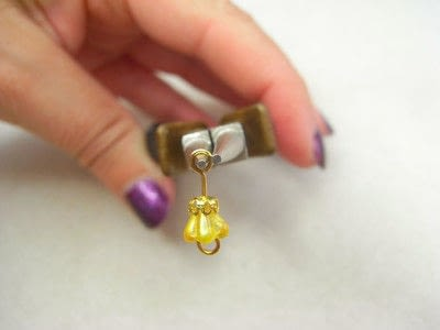 How to make a wire beaded bracelet. Citrine Zig Zag Bracelet - Step 5