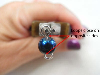 How to make jewelry. How To Form A Simple Loop - Step 7