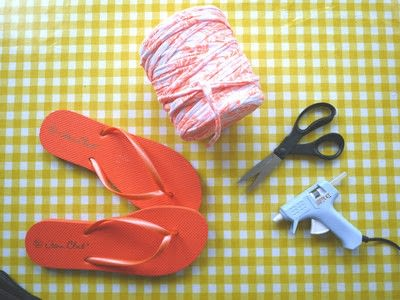 How to make a sandal / flip flop. Braided Flip Flops - Step 1